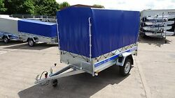 Blue Cover 4 Box Car Trailer 76ft X 43ft Flatbed Tipper + Free Trailer