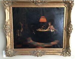 Original Antique Oil On Canvas By Listed Austrian Painter Karl Weiss 1860-1931