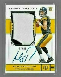 2018 National Treasures Mason Rudolph Auto 2 Color Jersey Patch Rc Ser. 87/99