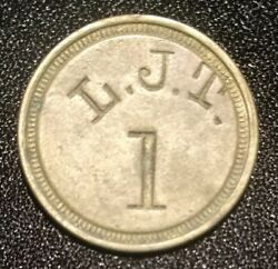 Harmans Md Canning Token L.j.t. 1 Pickers Check John Linton Tubbs Medal Coin