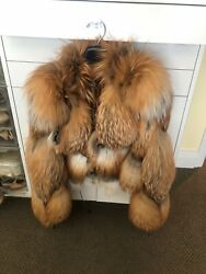 Russian Red Fox Jacket Lined In Silk Tiger Print