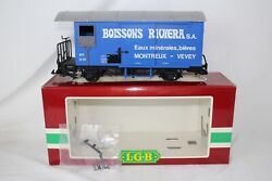 Lgb G Scale 4029 Boissons Riviera Reefer Freight Car, Blue, Excellent, Boxed 2