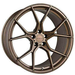 4ea 20 Staggered Stance Wheels Sf07 Satin Bronze Rims S1