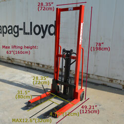 Hand Pump Lift Trucks Manual Forklifts Pallet Stackers Fork 63 2200lbs Upload