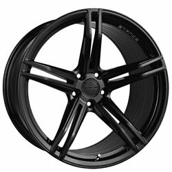 4ea 20 Staggered Stance Wheels Sf08 Gloss Black Rims S2