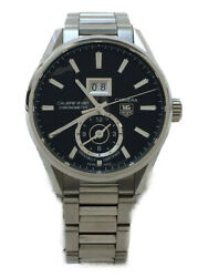 Tagheuer War5010 At Analog Stainless Steel Blk Carrera Caliber 8 Gmt [e1107]
