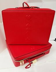 Estee Lauder Lot of 1 2 5 50 Red Makeup Cosmetic Bag Train Trave Case Box $12.99