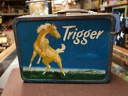 Vintage 1956 Trigger Metal Lunch Box A Product Of The American Thermos Bottle Co