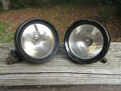 Antique 2 Lucas King Of The Road 3 5/8 Driving Lights Cowl Lights