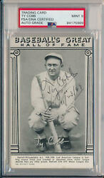 Rare Ty Cobb Signed 1948 Baseball's Great Hall of Fame Exhibit. Auto Mint 9 PSA