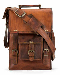 Men#x27;s Rustic Genuine Leather Messenger Shoulder Bag Small Cross Body Satchel $32.54