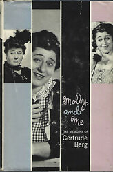 1961 Molly And Me The Memoirs Of Gertrude Berg Classic Radio Star Hc/dj Signed
