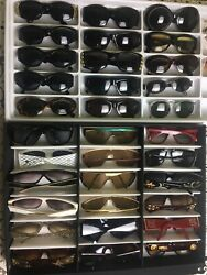 lot of 36 sunglasses of any brand vintage Gucci Gianni Versace  FendiEk...