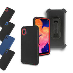 For Straight Talk Samsung Galaxy A10e S102dl Defender Holster Belt Cover Case
