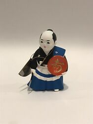 Hakata Doll Series By House Of Global Art Blue White Black And Red With Spear