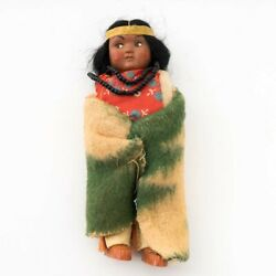 Skookum Bully Good Indian 1950s Young Native American Girl Doll Plastic Face