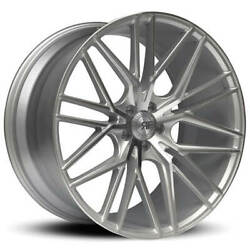 4ea 20 Staggered Road Force Wheels Rf13 Silver Machined Rims S2