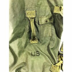 Military Us Army Green Canvas Duffle Laundry Deployment Bag Rucksack Backpack
