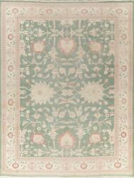 Antique Look Floral Oushak Area Rug Hand-knotted Wool Oriental Carpet 10x13 New