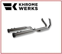 Scarico Khrome Werk Cromo Scuro 2 In 1 System Two Step 17 - 19 Harley Touring
