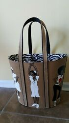 Limited Edition Nurse Theme Tote Bag Hand Painted Art By Susej Designs $475.00