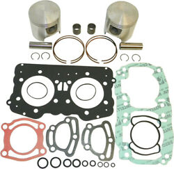Wsm Complete Oversized Top End Rebuild Kit W/ Pistons Rings Gaskets 010-809-12