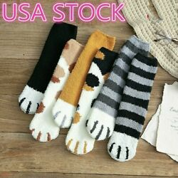 Winter Cat Claws Cute Thick Warm Sleep Floor Socks US