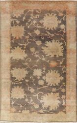 Antique Floral Oriental Oushak Area Rug Wool Hand-knotted Decorative Carpet 6x9
