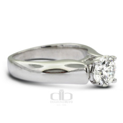 6.35ct DVS1 Round Natural Diamond 14K Gold Classic Solitaire Engagement Ring