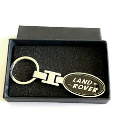 Land Rover SILVER and BLACK Key Chain Key Ring Stainless Steel in a Black Box $12.99