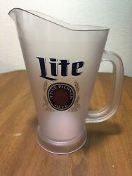 Miller Lite Beer Wf Boelter Co Milwaukee Wi Acrylic Pitcher Used