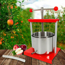 1.6 Gallon Stainless Steel Fruit Press Wine Juice Cider Cheese Sausage Tincture