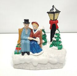 1996 House Of Lloyd Victorian Couple On Park Bench Lighted Music Box - Memory