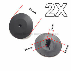 2x Hood Insulation Pad Retainer Clips For Gm