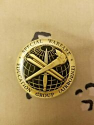 Jfk Special Warfare Center Lifelong Learner Special Forces Challenge Coin