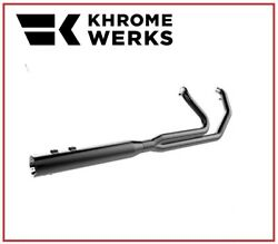 Scarico Khrome Werks 2 Into 1 With Two Step Headers Nero 09 - 16 Harley Touring