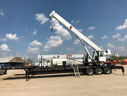 2011 QMC 70100TD Crane  Low Hours 3-100 Ft Boom  Mounted on 50' Trailer EROPS