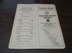 1978 Southern Pacific San Antonio Division Employee Timetable 8