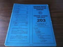 April 1975 Southern Pacific Houston Division Employee Timetable 203