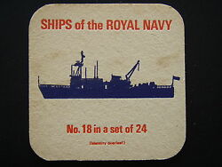 SHIPS OF THE ROYAL NAVY No.18 IN A SET OF 24 EXERCISE MINELAYER ABDIEL COASTER