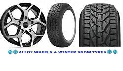 18 Bmf Cobra Alloy Wheels + Snow Tyre Ford Transit Tourneo Rated 1250kg 5x160