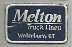 Melton Truck Lines Waterbury Ct Driver Patch 2-5/8 X 4-1/8 3335