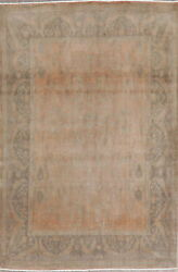 Antique Vegetable Dye Oushak Oriental Muted Rug Wool Hand-knotted 5 X 7 Carpet