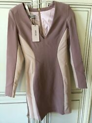 New With Tags Womenand039s Two Tone Vneck Dress Blush Pink By House Of C.b. Gorgeous