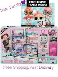Lol Surprise Doll House 85+ Surprises Wooden Multi Story Girls With New Family