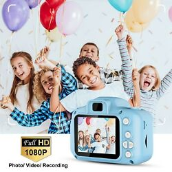 Kids Digital Camera 2.0 Lcd 12mp 1080p Child Video Camcorder 4x Zoom 5 Games Us