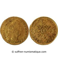 Louis Xiv - Louis Gold Of 4 The / Of 1694 H The Rochelle