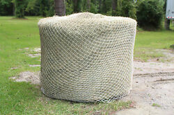 Slow Horse Hay Round Bale Net Feeder 48 Eliminates Waste Fits 6and039 X 6and039 Bales