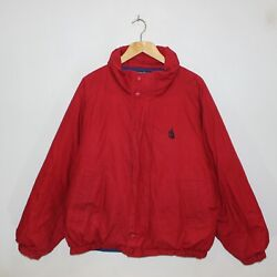 Vintage Nautica Down Insulated Reversible Puffer Jacket Size Large Blue Red