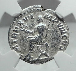 Commodus The Gladiator Emperor 190ad Rome Ancient Silver Roman Coin Ngc I81436